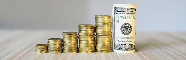 диаграмма из денег